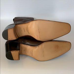 Yves Saint Laurent Shoes - Yves Saint Laurent Rive Gauche Brown Boots Size 42